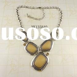 fashion resin stone necklace plated silver buy jewelry wholesale