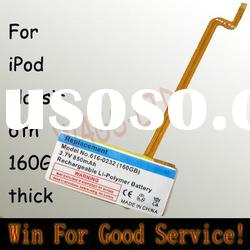 for iPod classic 6th 160G thick battery replacement 160GB