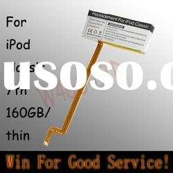 for iPod classic 7th 160G thin battery replacement 160GB