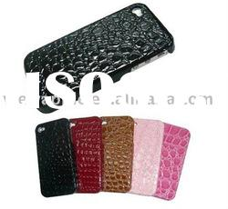 for iphone 4g crocodile leather case