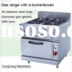 gas double oven JSGH-987A gas range with 4-bumer with oven