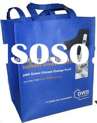 green eco-friendly non woven shopping bag with handles