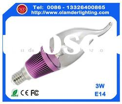 guangzhou e14 led candle lights 110v with CE for European Markets