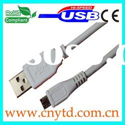 high speed white color micro usb power cable
