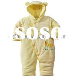 hooded long sleeve winter wholesale baby clothes with patch