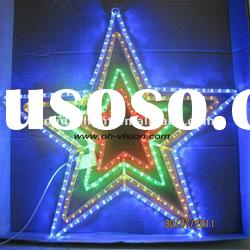 hot sell led rope light motif light pentagram