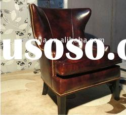 hotel furniture classic style antique leather chair
