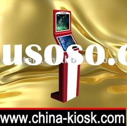 latest design dual touch screen kiosk