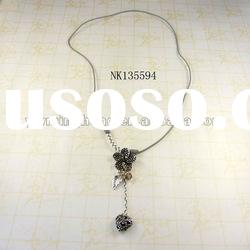 latest design jewelry silver plated handmade pendant necklace