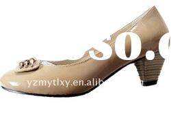 lovely Bead flower new design ladies spring leather shoes