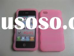 pink 3D DESIGN silicone gel rubber skin cover case for APPLE iPHONE 4G 4S 4GS