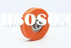 red plastic pulley