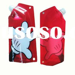 semi-transparent stand up spout pouch plastic bag