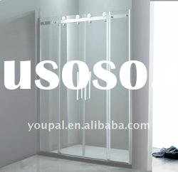 sliding shower door , 8mm tempered glass more safe and flow well with copper bearing sliders