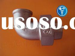 stainless steel pipe fittings union elbow with NPT thread