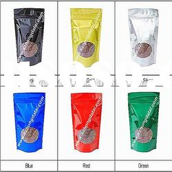 stand up plastic zipper packaing bags with clear window