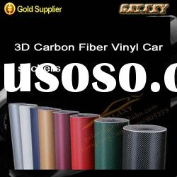 whole sale 3d carbon fiber vinyl film car body self-achivse vinyl / without air free bubble