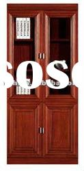 wood glass cabinet office display shelves office furniture(FOHB-11502M)