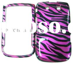 zebra Flower Rubberized Hard Shield Phone Cover Case For BlackBerry Torch 9800