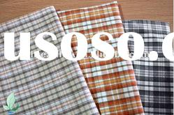 100% Cotton plaid fabric for man's shirt