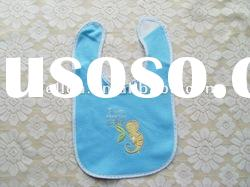 100% cotton terry with embroidered cute lizard baby bibs