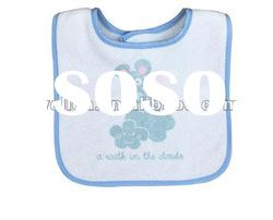 100% cotton terry with printed cute mouse baby bibs