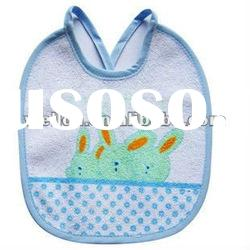 100% cotton terry with printed cute rabbit baby bib