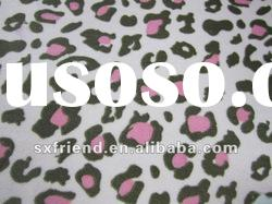 100% polyester Leopard printed micro polar fleece with anti-pilling fabric