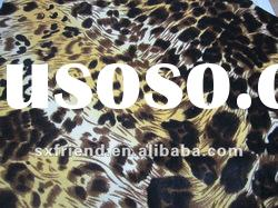 100% polyester anti-pilling special leopard printed micro polar fleece fabric