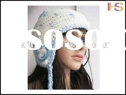 2012 Fashion winter knitted hat/knitting patterns hats/hat knitting machine/acrylic knitted hat