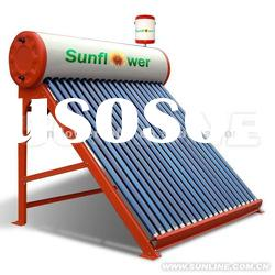 2012 High Quality Compact Heat Pipe Solar Water Heater System with Supplier Tank