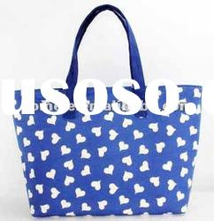 2012 Summer blue canvas handbag/ latest arrival canvas tote bags/ cute canvas shoulder bag