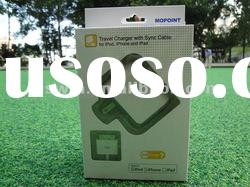 2012 Travel Wall Charger with Sync USB Cable for Apple iPad, for iPhone, for iPod,for iphone 4 4G 4S