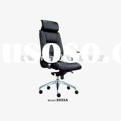 2012 black leather office chair model 6005A