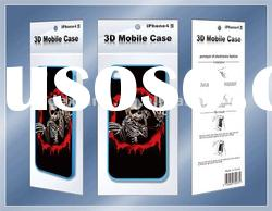 2012 fashion 3d cover for iphone 4s/3d motion effect case for iphone/3d skulls case for iphone 4s