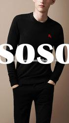 2012 fashion Crew neck wool and silk blend wool high neck sweater for men