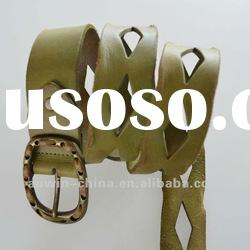 2012 fashion genuine leather china made ladies belt