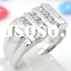 2012 hot sale top quality high polished fashion 925 silver man's ring jewelry (R5441)
