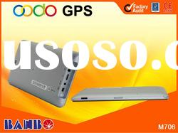 2012 hot selling 7.0 inch car gps navigation system with bluetooth