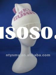 2012 new fashion jacquard knitted hat with pompom