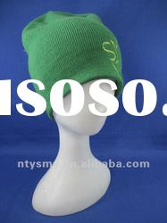2012 new fashion knitted cap with embroidery