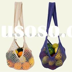 2012 new style fashion cotton long handled Shopping Bag for fruit