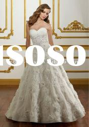2012 sweetheart embroidered 3d flowers skirt bridal wedding dress