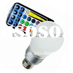 4W E27/E14/B22 color changing lamp LED RGB magic bulb