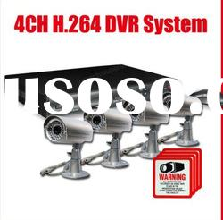 4ch H.264 Standalone DVR with 420tvl Camera security system
