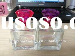 50ml/100ml suqare perfume glass perfume bottle with clear rectangle Surlyn cap