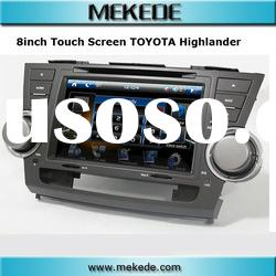 8inch touch screen car dvd for Toyota Highlander,GPS/DVD/RADIO/BT/TV/IPOD function