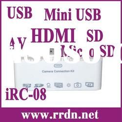 AV & HDMI Camera Connection Kit For iPhone 3GS/4/4S iPad 1/2