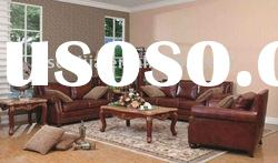 American style antique classic living room leather sofa
