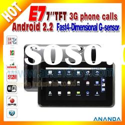 Android 3G Dual SIM Tablet PC E7 WiFi Bluetooth Camera Cheapest Capacitive Touch Screen Tablet PC